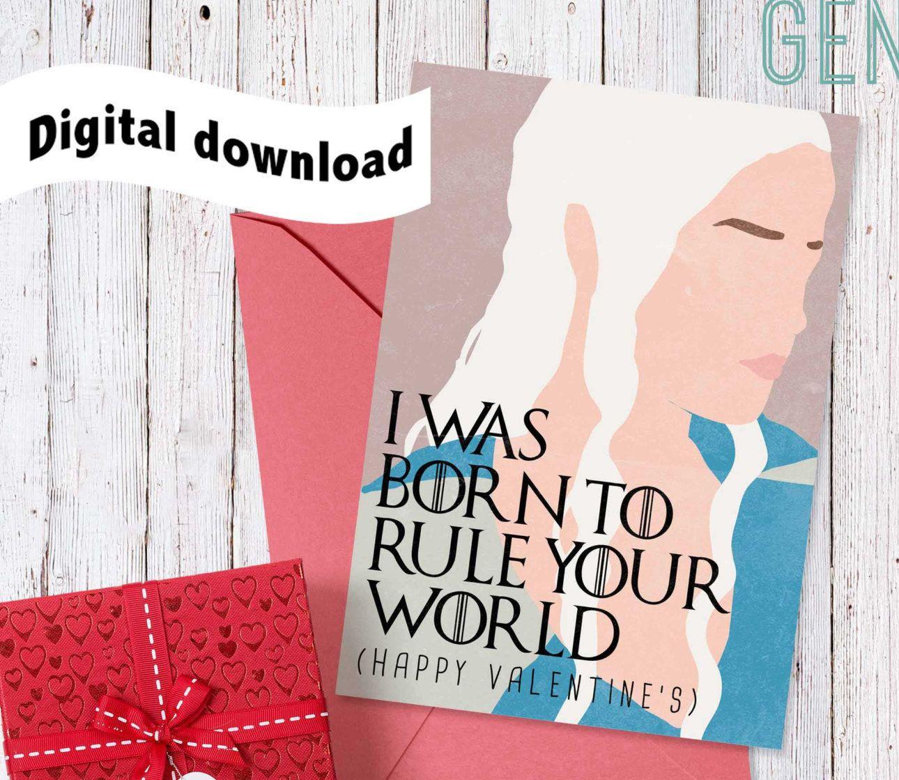 New to DesignGenesStudio on Etsy Printable Game of Thrones – Digital Valentine Card