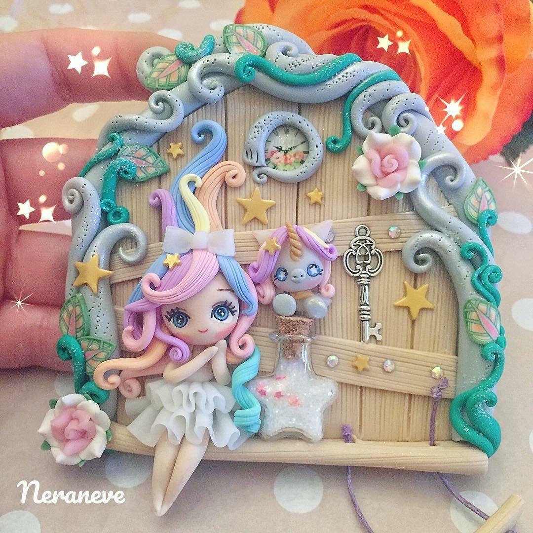 Cute Fairy Door Mystical Clay Creations Polymer Clay Fairy Polymer Clay Ornaments Polymer Clay Dolls