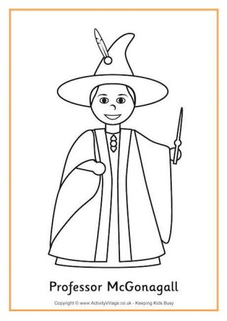 Professor Mcgonagall Colouring Page 2 Ideas Draco Malfoy