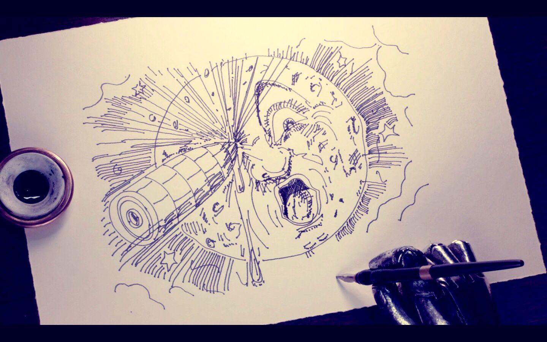 Automatons drawing - HUGO