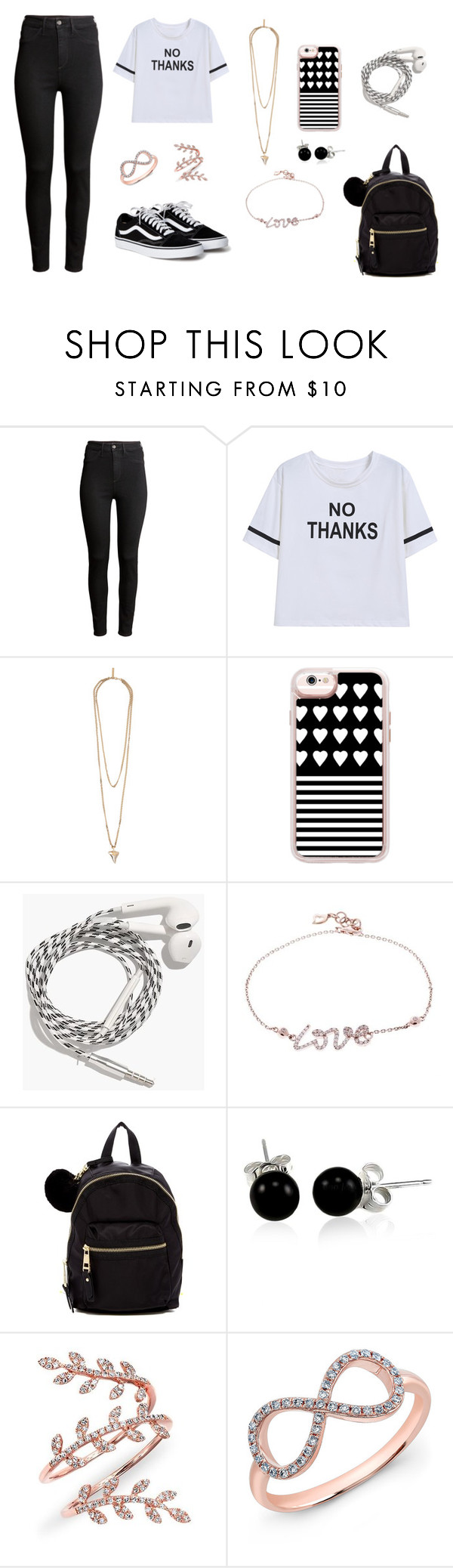 """Thanks"" by layaneleitth on Polyvore featuring moda, H&M, Givenchy, Casetify, Madewell, Madden Girl, Bling Jewelry e Anne Sisteron"
