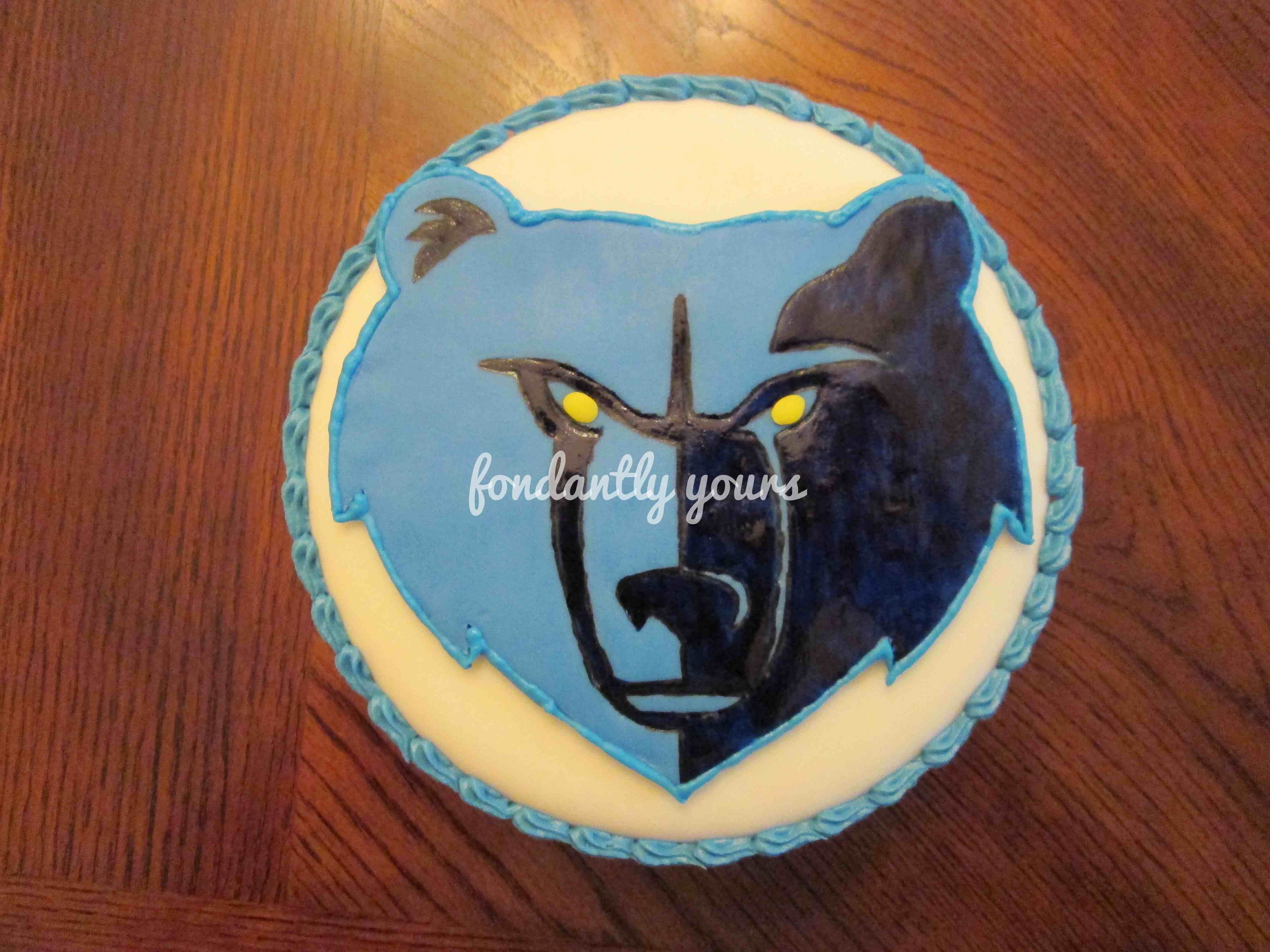 Decorating Ideas > Memphis Grizzlies Cake  Cake Designs By Fondantly Yours  ~ 223149_Birthday Party Ideas Memphis Tn