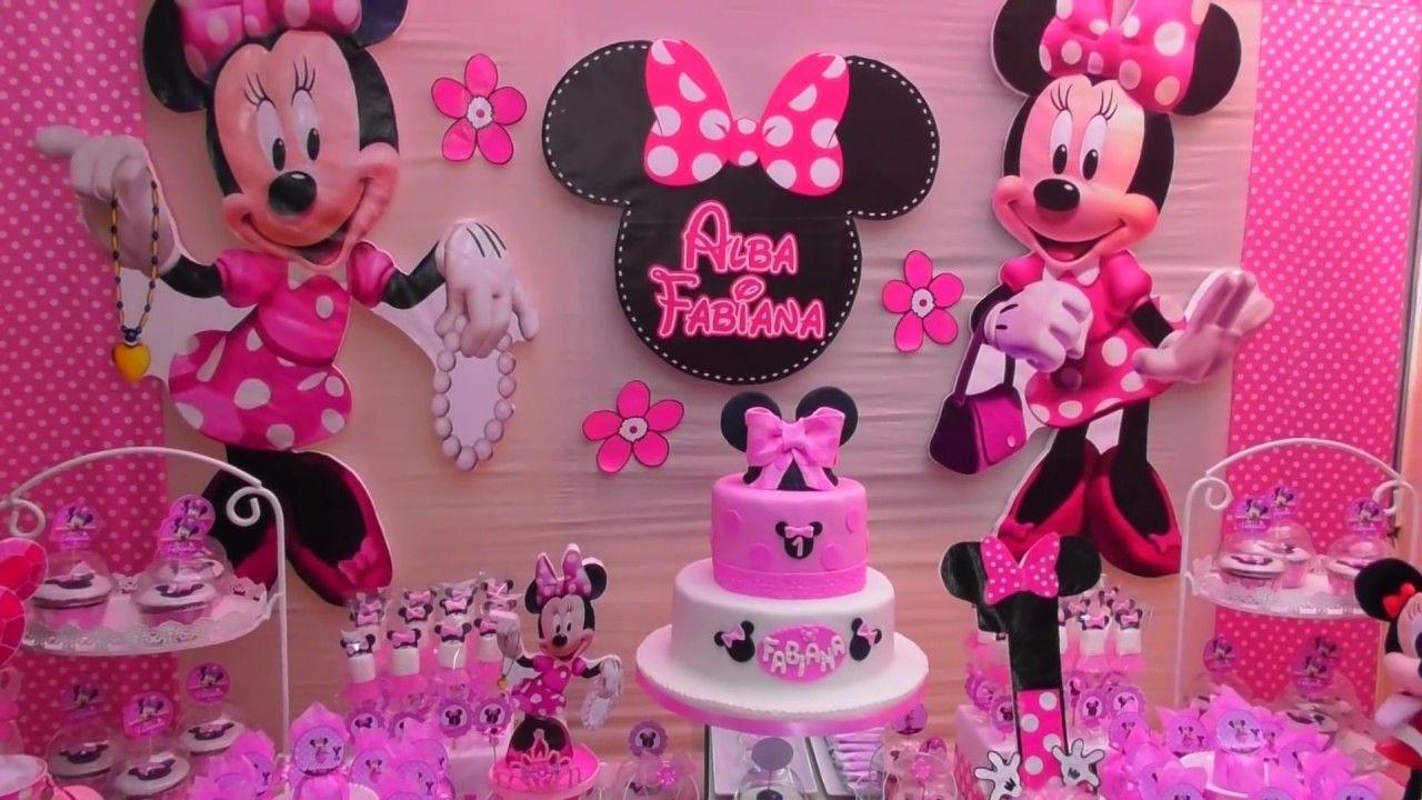 Presentación De Mesa Temática De Minnie Decoracion De Fiesta Infantil Tematicas Para Fiestas Infantiles Minnie Coqueta Decoracion Minnie Mouse