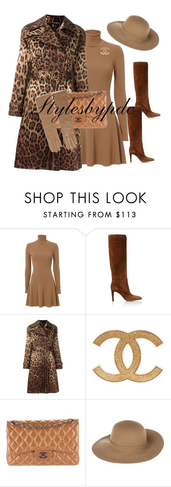 """""""Winter Church Style..."""" by stylesbypdc ❤ liked on Polyvore featuring A.L.C., Gianvito Rossi, Dolce&Gabbana, Chanel, Armani Jeans and Causse"""