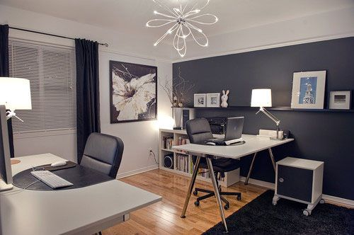 how to create his and hers spaces while maintaining a on color ideas for home office id=26049