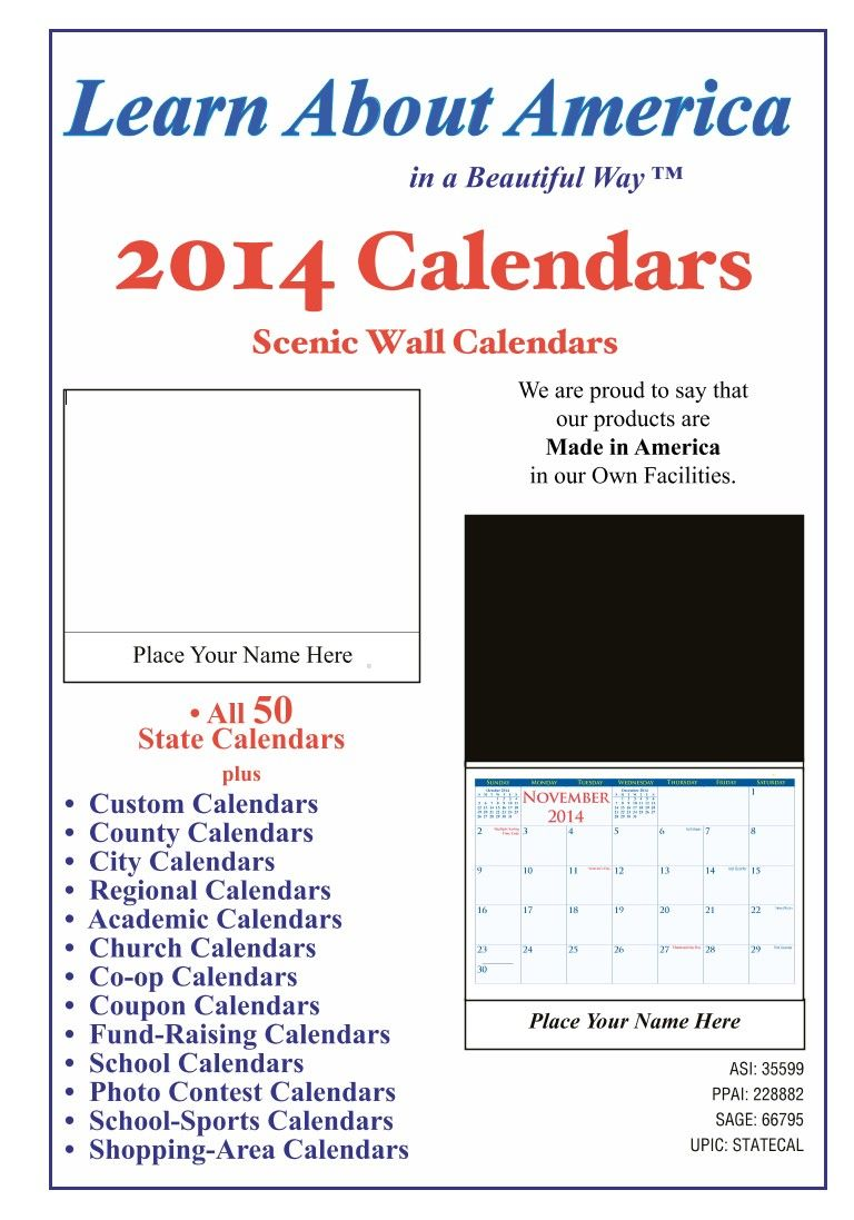 Largest Source Of Promotional Product Specials Academic Calendar
