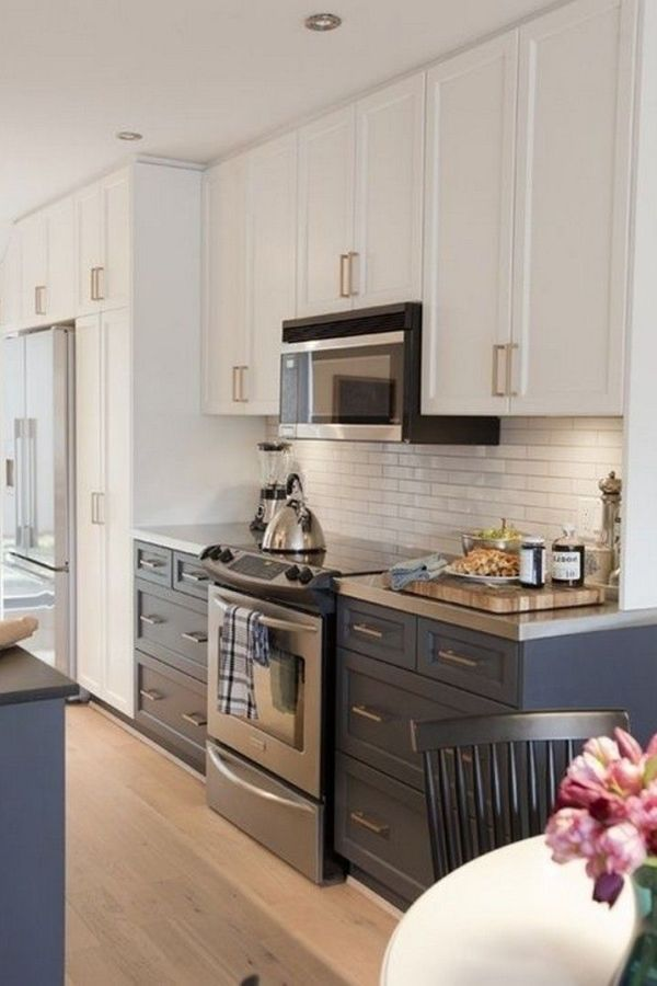 33 Popular Painted Kitchen Cabinets Two Tone Design Ideas