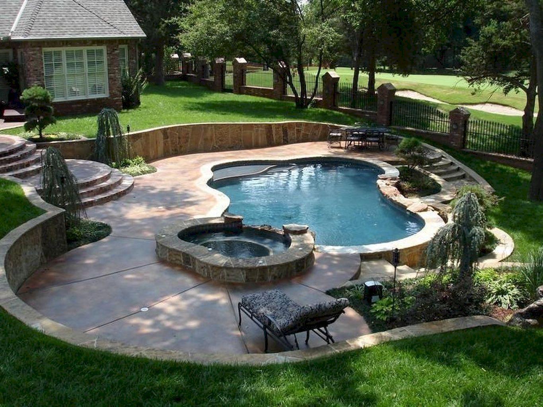 30 Small Pool Ideas To Freshen Your Summer Inground Above Ground Backyard Backyard Pool Landscaping Small Pool Design Small Backyard Pools