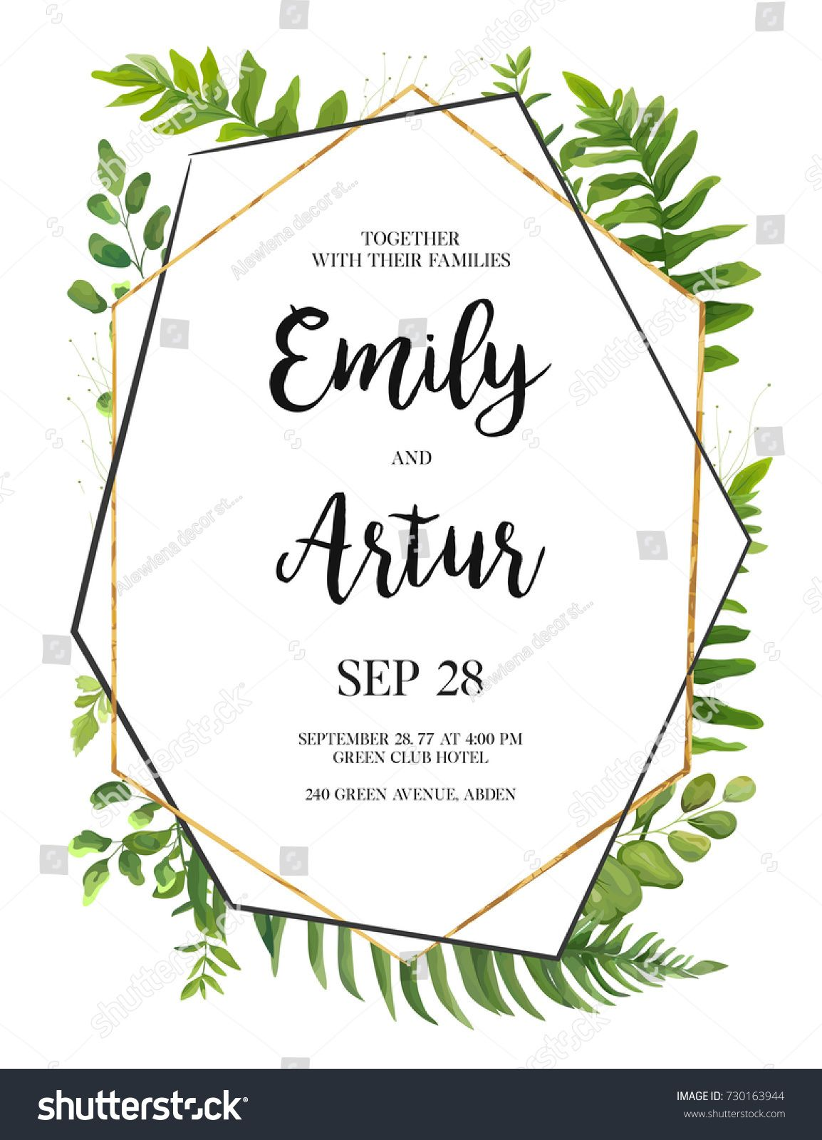 Vector floral design card green fern forest leaves herb plant vector floral design card green fern forest leaves herb plant greenery mix natural botanical stopboris Image collections
