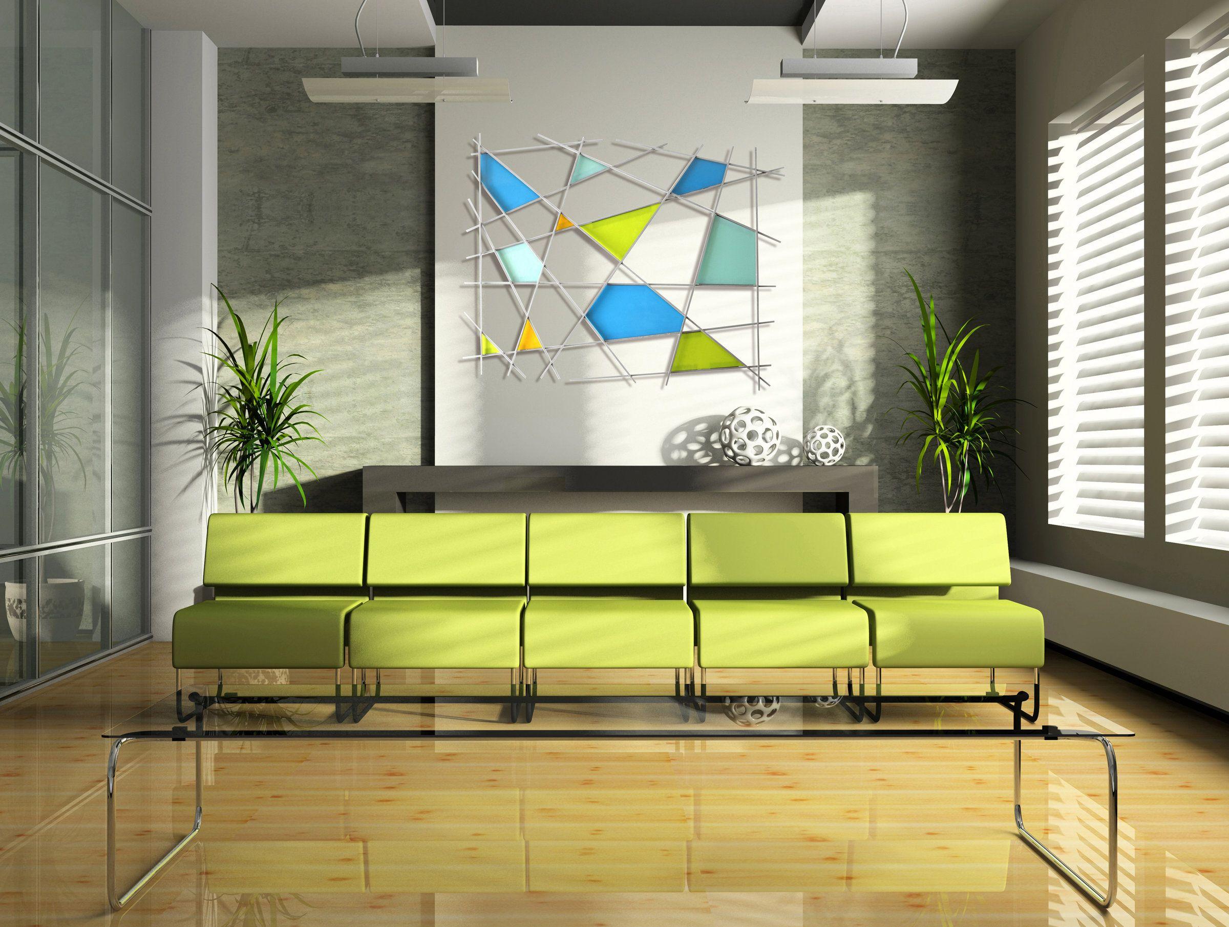 Triangulation by Karo Martirosyan (Art Glass Wall Sculpture   Wall ...