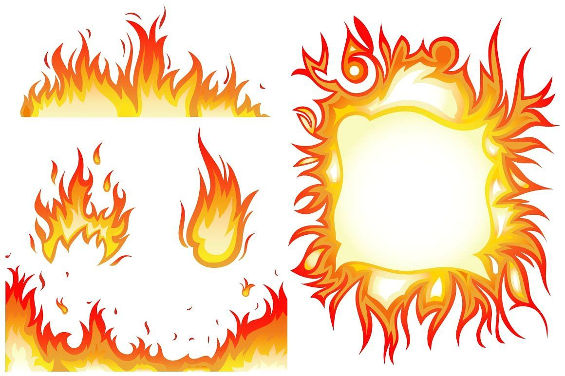 Set of flame fire and sun Animated icons, Custom icons