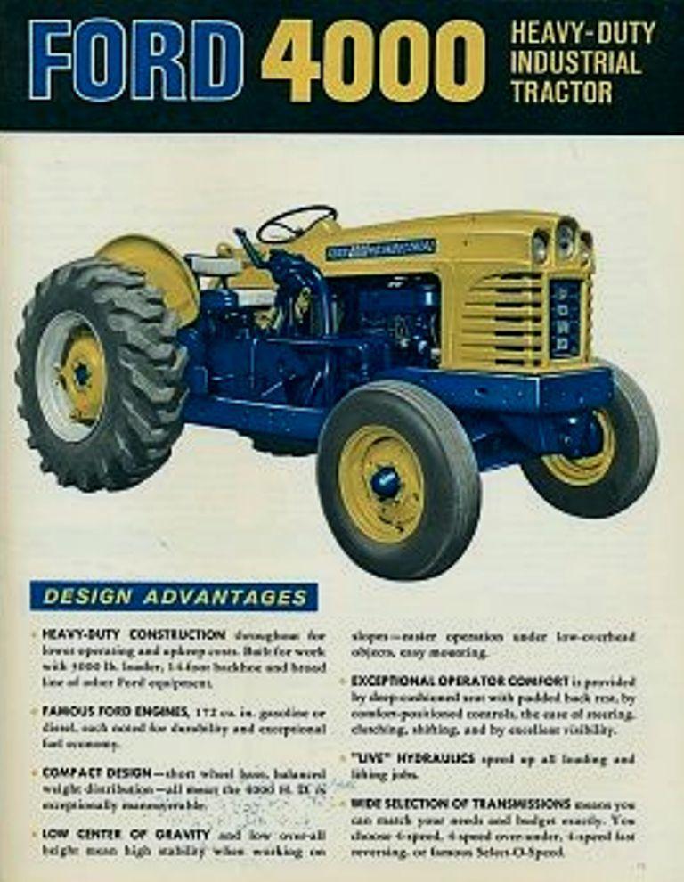 Ford 4000 Heavy Duty Industrial Tractors Tractors Vintage