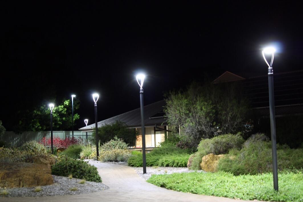 60w Dlc Iecee Led Post Top Light Outdoor Park Pathway Garden Landscape Lights Led Garden Lights Post Lights Led Outdoor Lighting