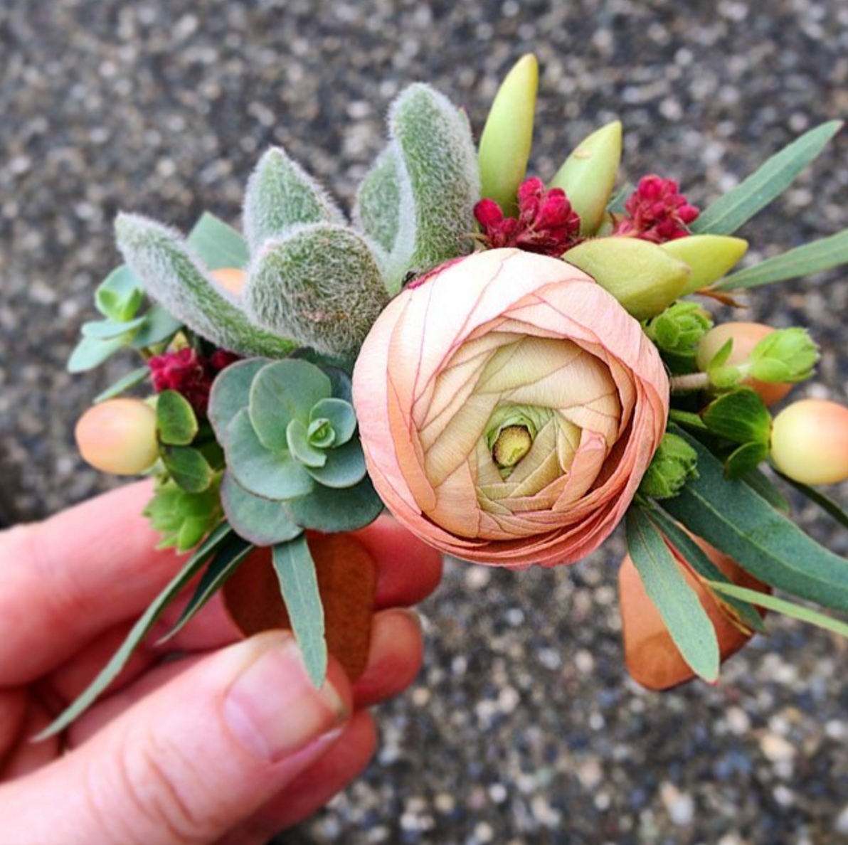 floral cuff / flower bracelet by Flourish Floral Design Blog of Mayesh Wholesale Florist - #MayeshFloralFashion Instagram Challenge Recap