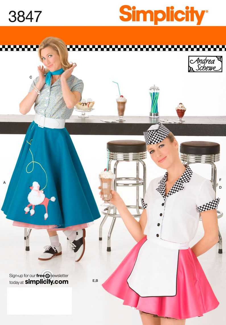 WANT! S3847 Misses 50\'s American Diner Waitress Costumes | by Andrea ...