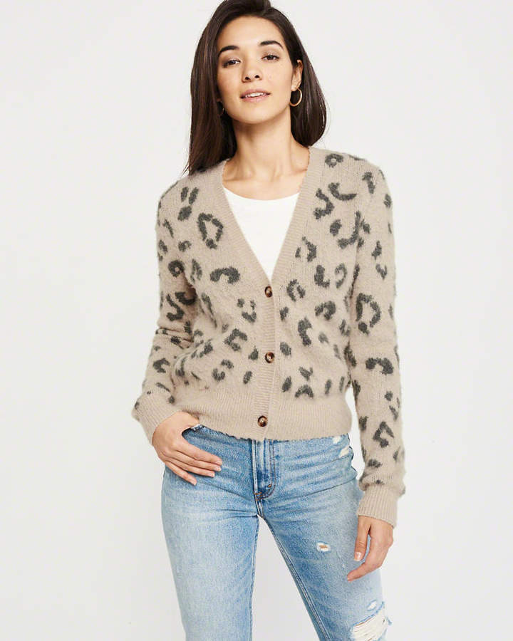 cf4ad0da6483 Abercrombie & Fitch Brushed Leopard Cardigan   Night out in 2019 ...