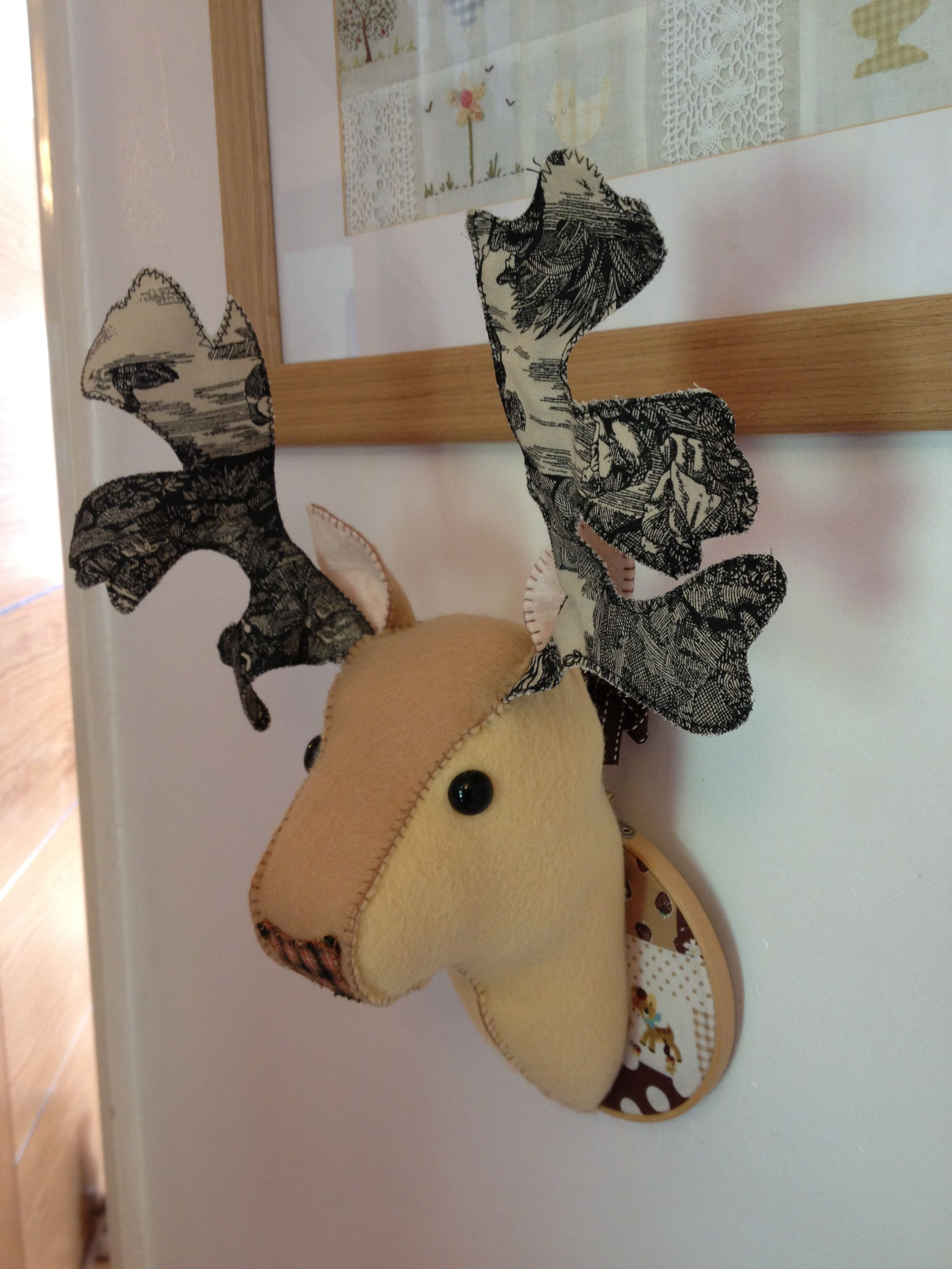 Fabulous Felt Deer Head I Made From Pattern By Bustleandsew