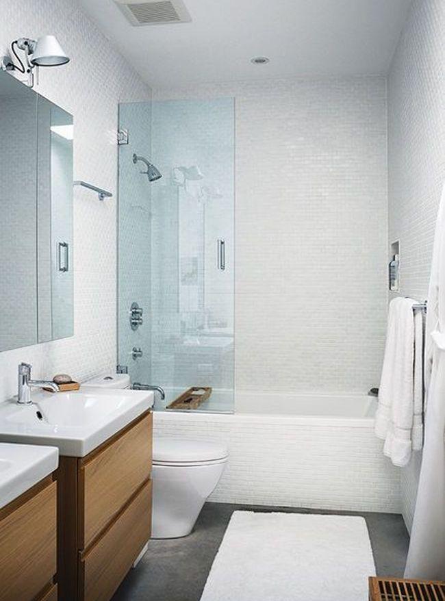 salle de bain avec cran de baignoire - Spot Dans Douche