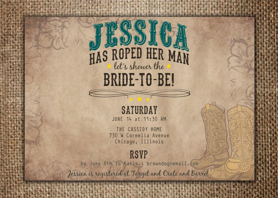 bridalwedding shower invitation shes roped her by browndogpress 1800