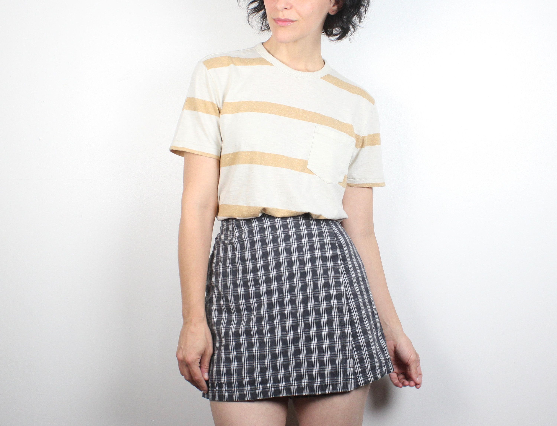 60770eaa3f Vintage 1990s Skort Gray Plaid Mini Skirt High Waisted Shorts Back Soft  Grunge Tennis Skirt Wrap Style Mom Shorts 90s Skort Clueless S Small #1990s  #90s ...