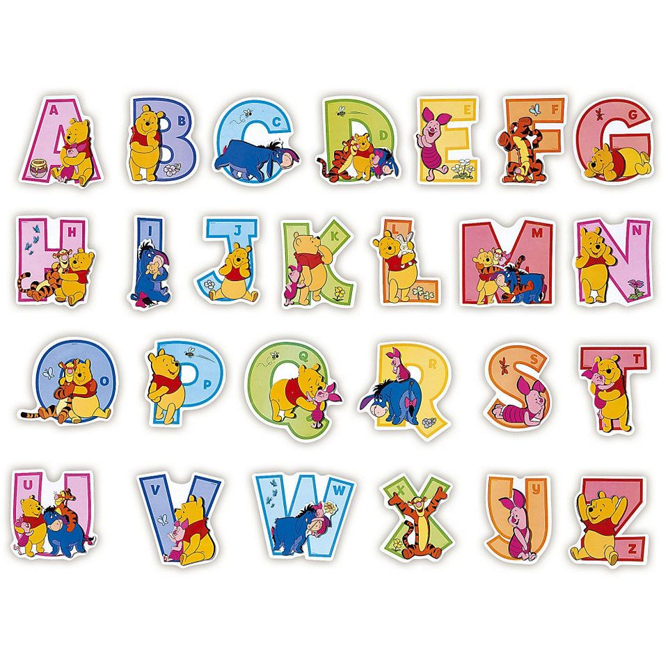 Disney Alphabet Letters STENCIL Reusable letters template Kids not a decal