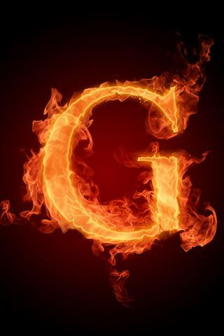 G Letter In 3d Fire G Letter Iphone Wallpaper G Wallpapers