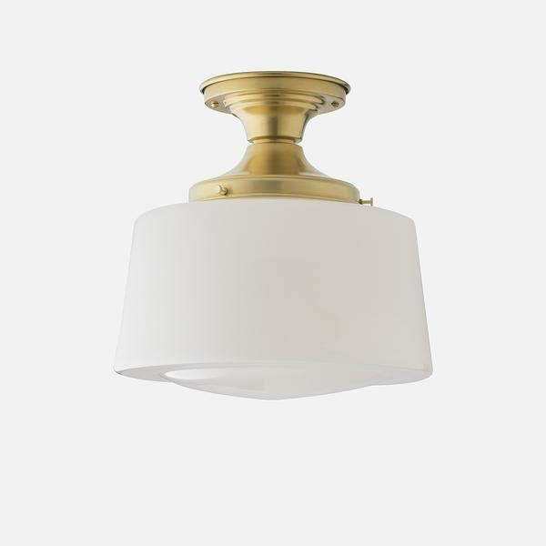 Large Drum Shade Opal Drum Shade School House Lighting Surface Mounted Light Fixture