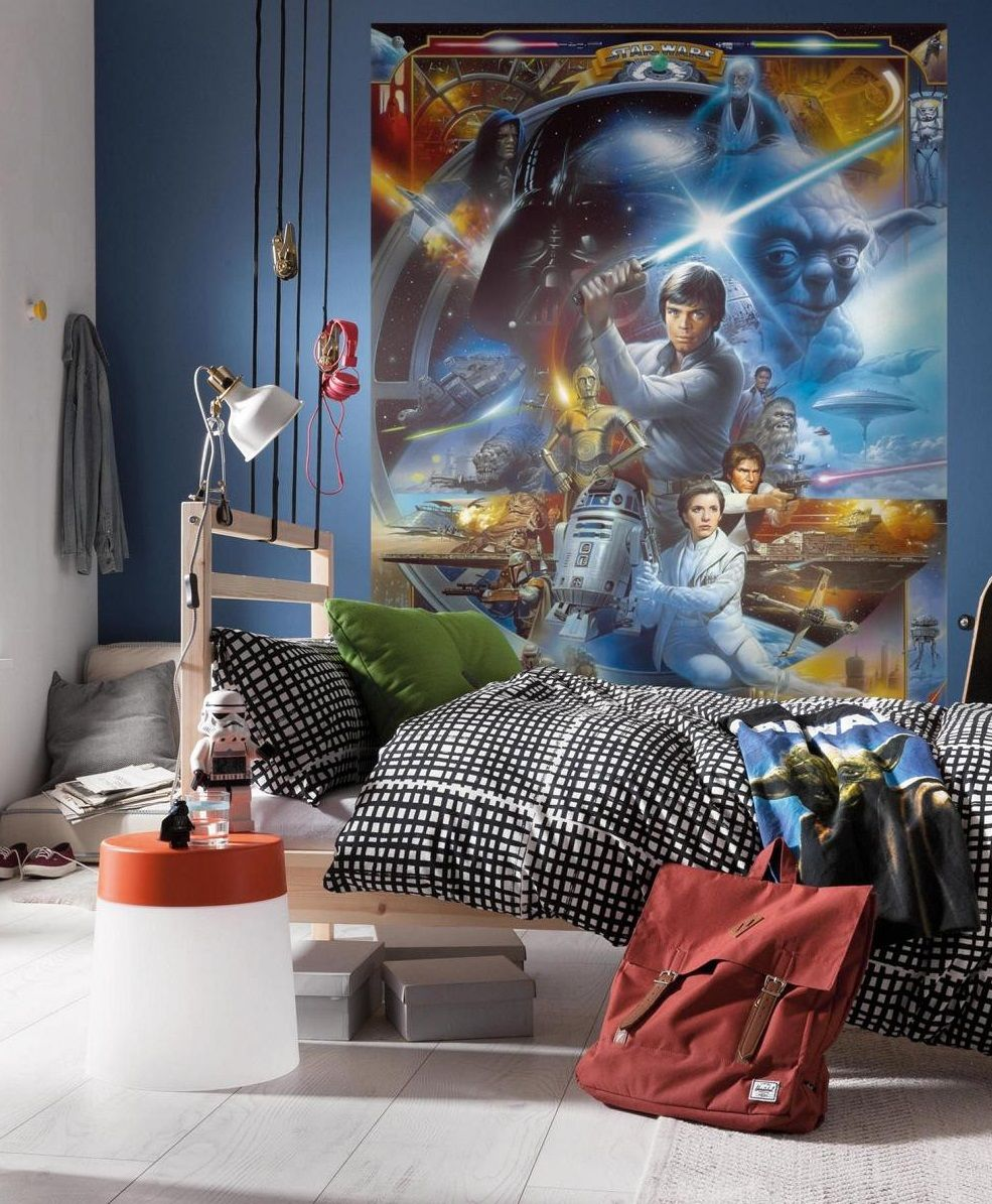 Feel The Adventure With This Young Luke Skywalker Starwars Wallpaper Mural Perfect Idea For A Boys Room Star Wars Wall Mural Wall Murals Unique Murals