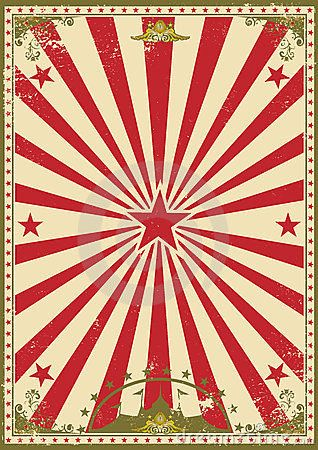 A Retro Circus Background For Your Show In 2019 Vintage