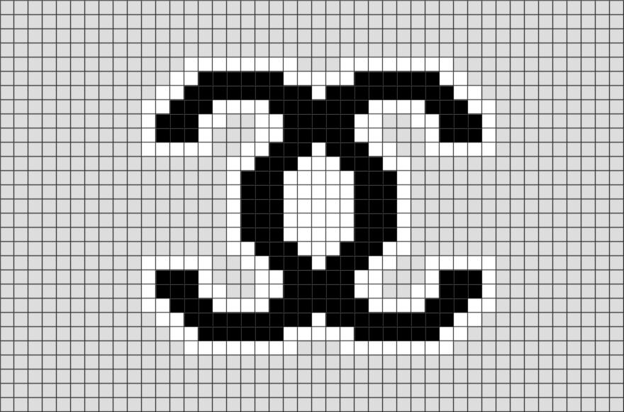 Chanel Pixel Art Dessin Pixel Point De Croix Et Dessin