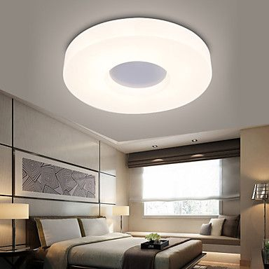 86 61 1 Light Ecolight 28 11inch Led Flush Mount Lights Metal Acrylic Electroplated Modern Contemporary 90 240v Modern Contemporary Living Room Ceiling Lights Living Room Low Ceiling Bedroom