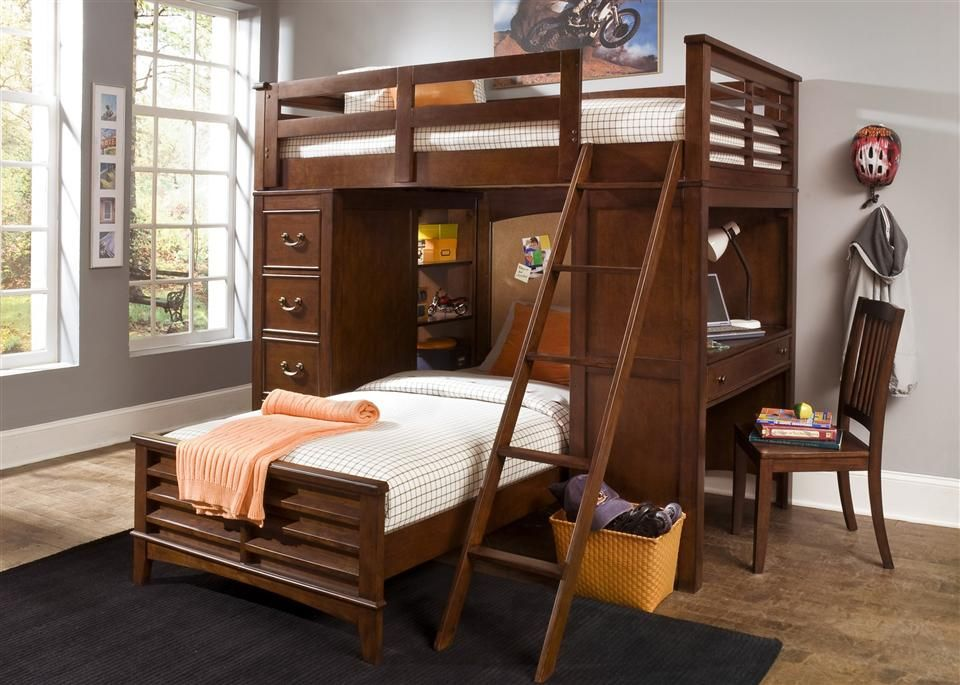 Bed Over Stair Box Google Search: Twin Over Queen Bunk Beds - Google Search