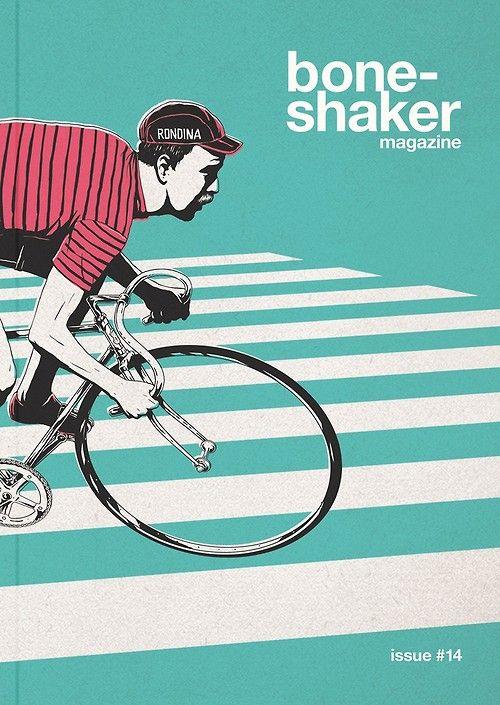 Bone Shaker Bristol Uk Couvertures De Magazines Velo Graphisme