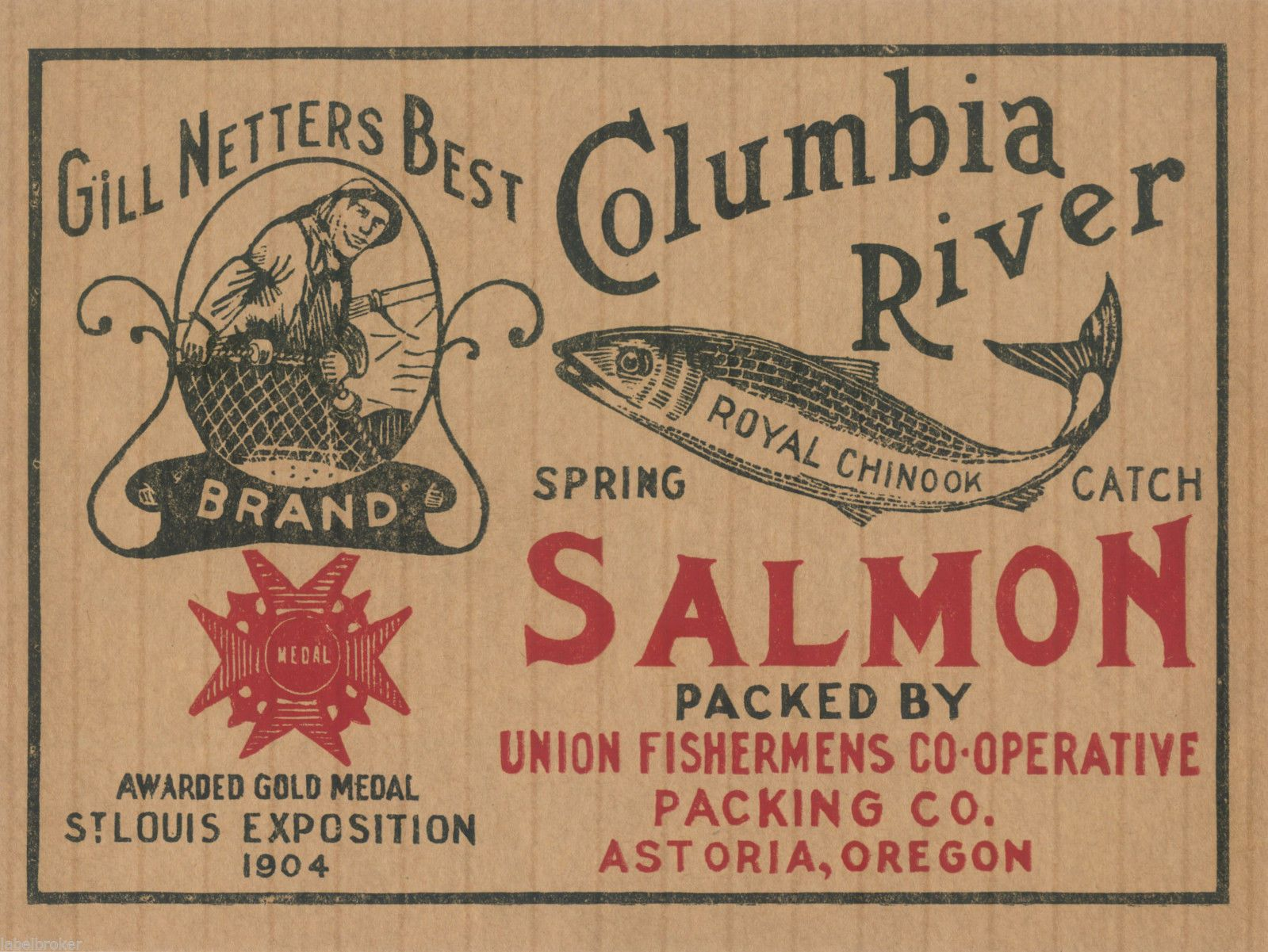 heinz label template - tin can label vintage salmon case astoria oregon gill