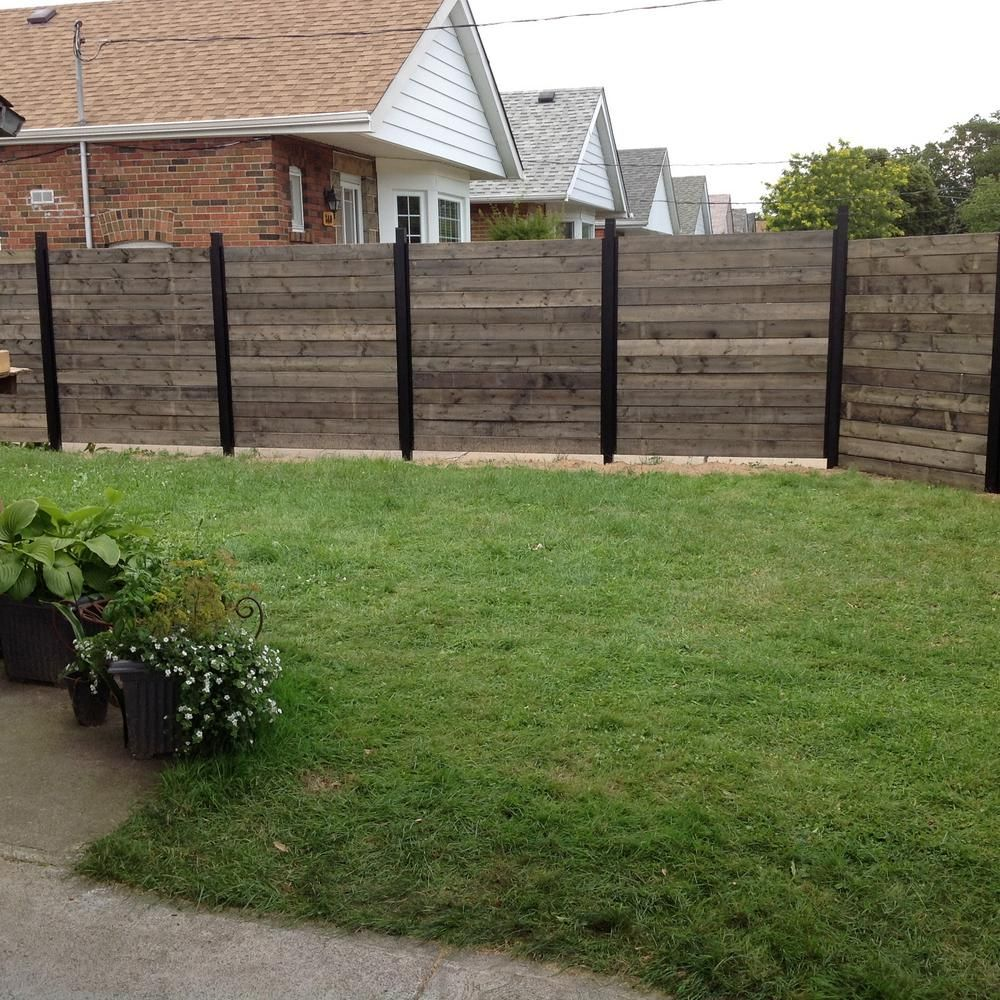Slipfence 3 In X 3 In X 10 Ft 4 In Black Powder Coated Aluminum Fence Post Includes Post Cap Sf2 Pk310 Fence Design Privacy Fence Designs Aluminum Fence