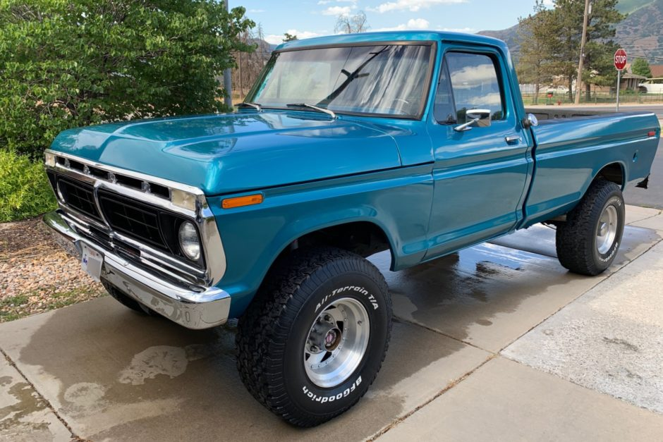 No Reserve: 1976 Ford F-250 Highboy 4×4 4-Speed