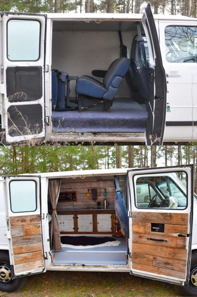Camper Van Before and After Remodel Camper van