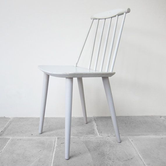 Surprising Original Danish Vintage Spindle Back Dining Chair 1950S Soft Alphanode Cool Chair Designs And Ideas Alphanodeonline