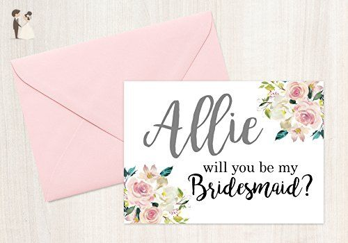Bridesmaid Proposal Card Will You Be My Bridesmaid Card Personalised Bridesmaid Card