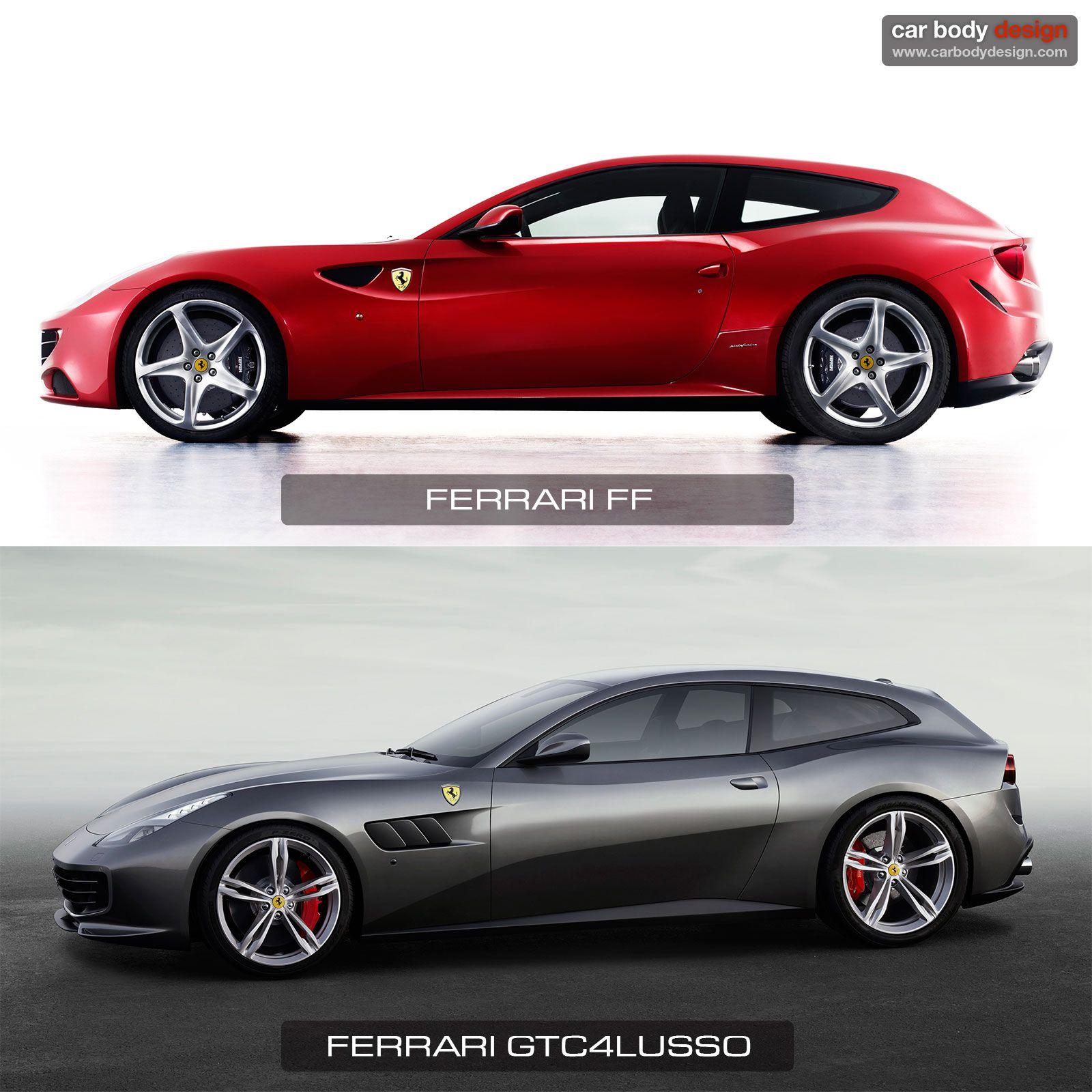 Ferari Ff Gtc4lusso Design Comparison Design Ferrari Sports Car