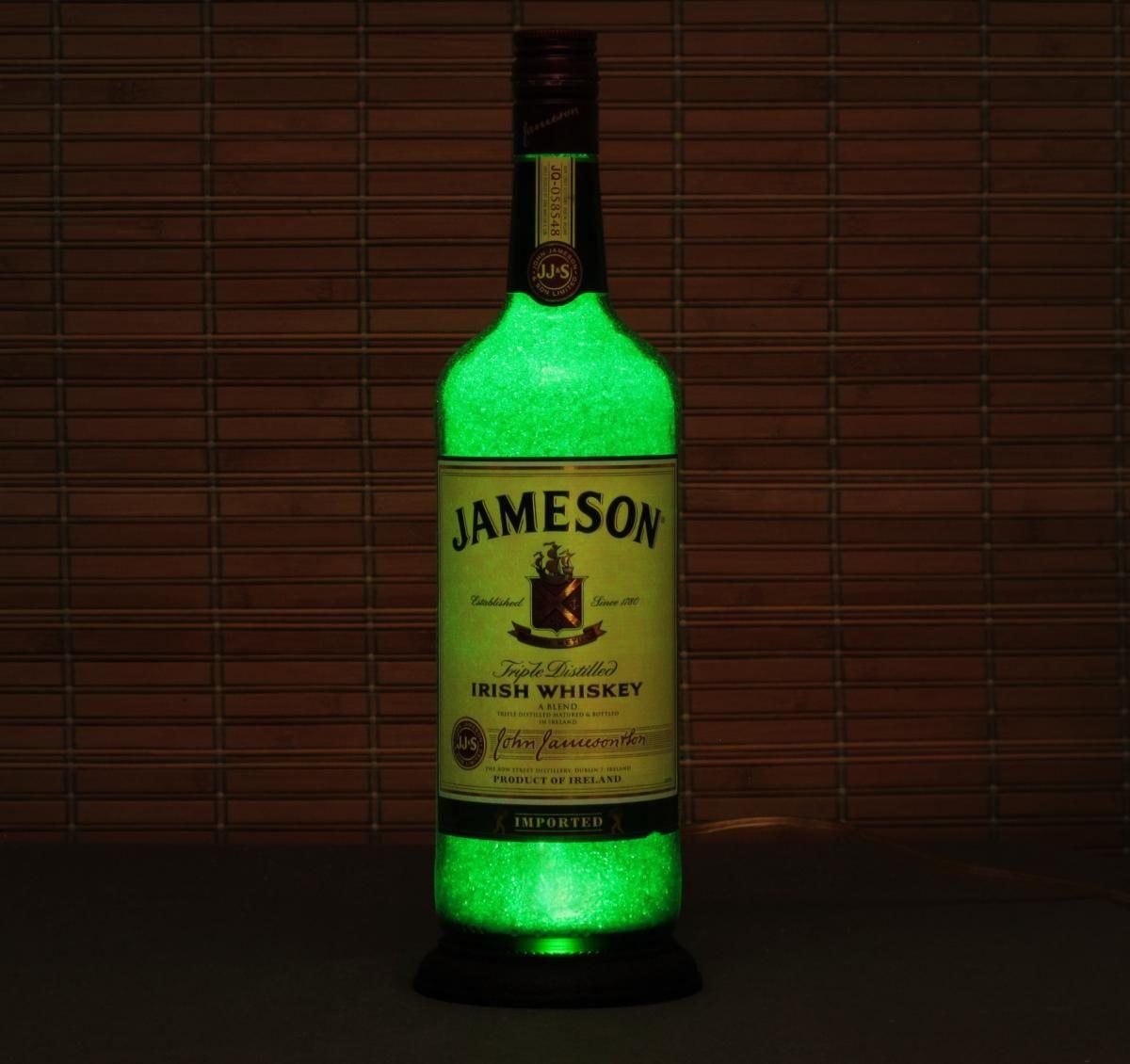 Jamesons Irish Whiskey 70cl Empty Gin Bottle Lamp Light