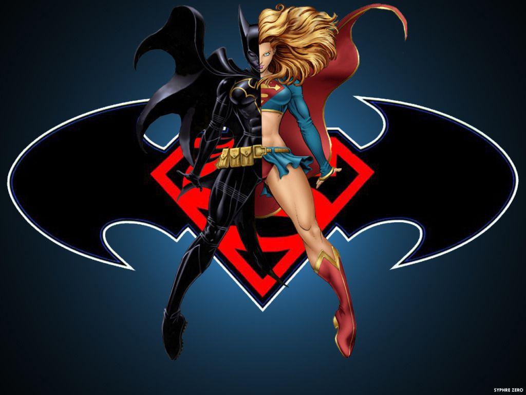 Batgirl Best Superhero Wallpaper BatGirl and SuperGirl