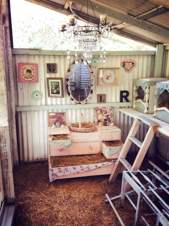 My Shabby Sheek Chook House Chicken Coop Decor Building A Chicken Coop Diy Chicken Coop