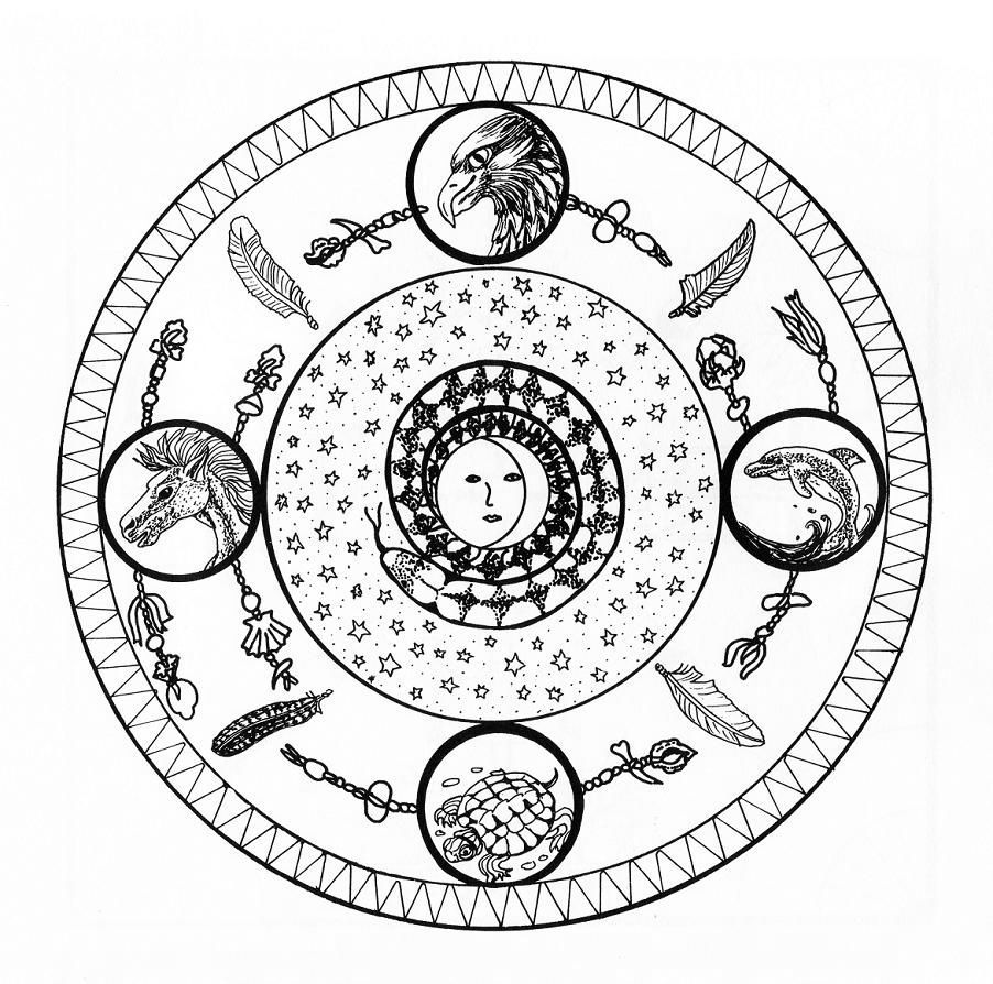 mantra karten zum drucken  mandala coloring pages