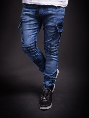 hot-selling genuine top-rated real clearance sale 2Y Men Slim Fit Cargo Denim Jogger Jeans - Blue in 2019 ...