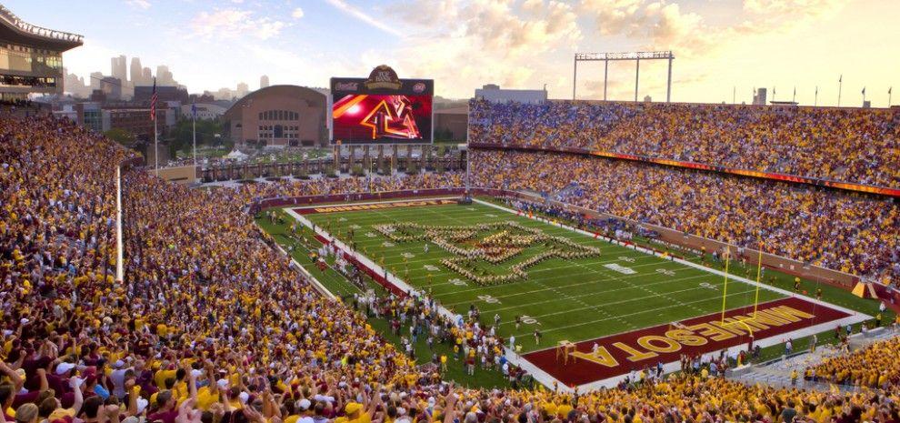University Of Minnesota Tcf Bank Stadium Populous University