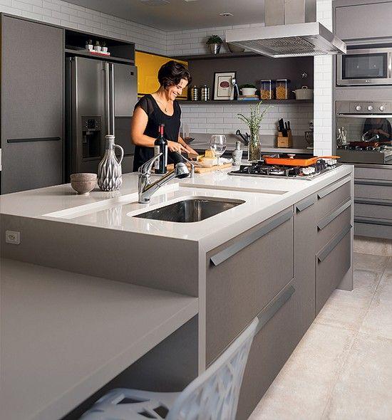 Ilha Na Cozinha Cozinhas Modernas Cozinha Com Ilha Decoracao