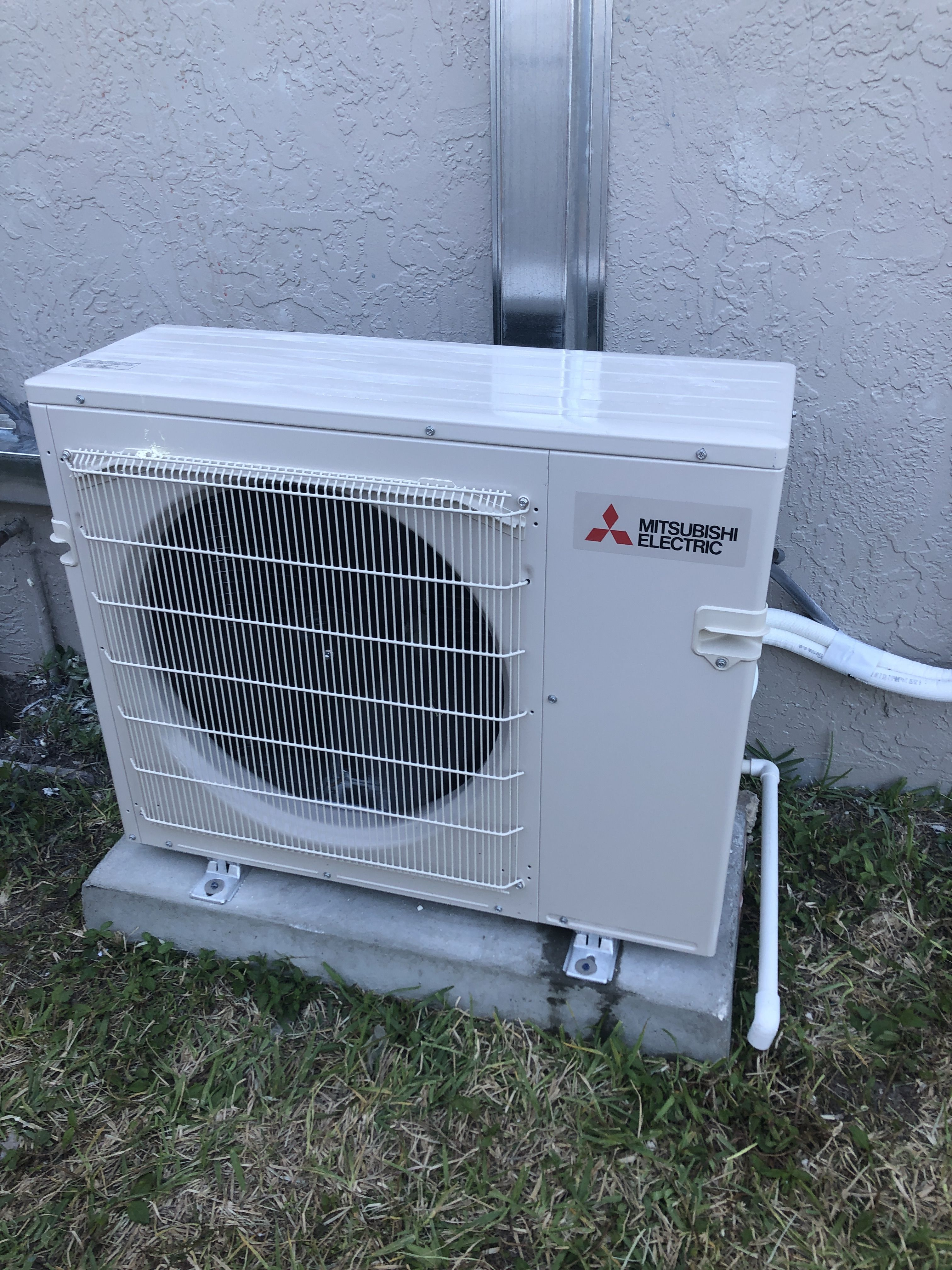 Mitsubishi Ductless mini split installation air