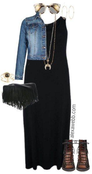 Plus Size Black Maxi Dress Outfits | Plus Size Fashion ...