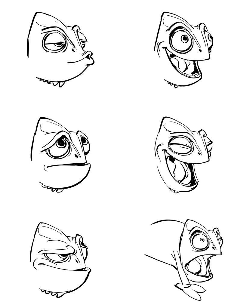 chamaleon rapunzel zeichnen